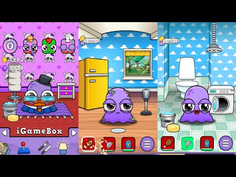 Moy 5 Vs Moy 4-Virtual Pet Game/REIVEW GAMEPLAY/Most Gameplay makeover for kid #P11