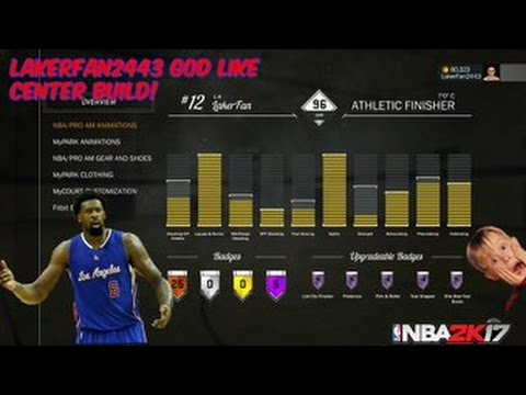 BEST CENTER BUILD TO MAKE IN NBA 2K17! (ATHLETIC FINISHER BLAKE GRIFFIN  TYPE) - YouTube