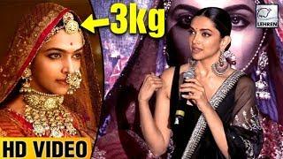Deepika Padukone's Amazing Reaction On 3 Kg Headgear In Ghoomar Song | LehrenTV