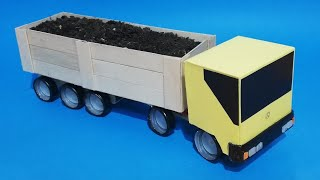 How to make a truck with recycled materials. Container truck