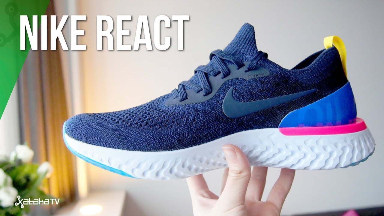 the best attitude 7b408 82cc4 Nike Epic React Flyknit ZAPATILLAS TECH sin cables ni sensores