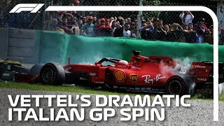 Vettel Spins Out Of Contention at Monza | 2019 Italian Grand Prix