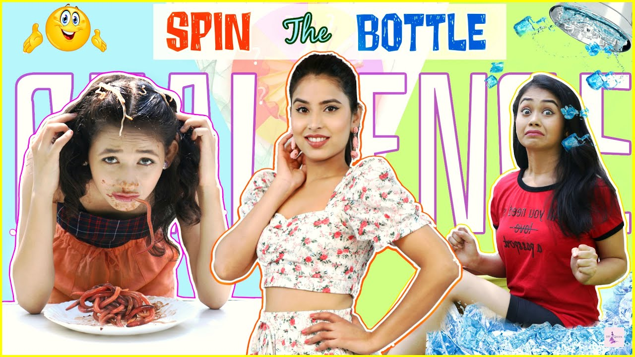 CHALLENGE QUEEN -  Spin The Bottle Dare Challenge | Episode 9 | DIYQueen