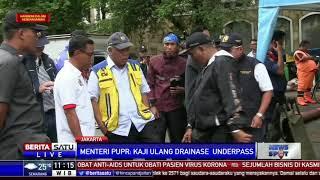 Menteri Basuki Akan Kaji Sistem Drainase di Underpass Kemayoran