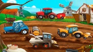 Мультики про машинки - на ферме и строительной площадке. Мультик пазл.