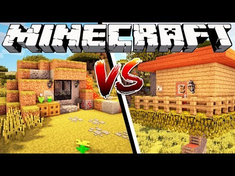 CAVE HOUSE VS TREE HOUSE - Minecraft