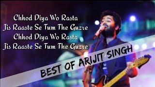 Chod diya o rasta lyrics | Arijit Singh | Bazaar | best Hindi songs | Hindi song lyrics High quality