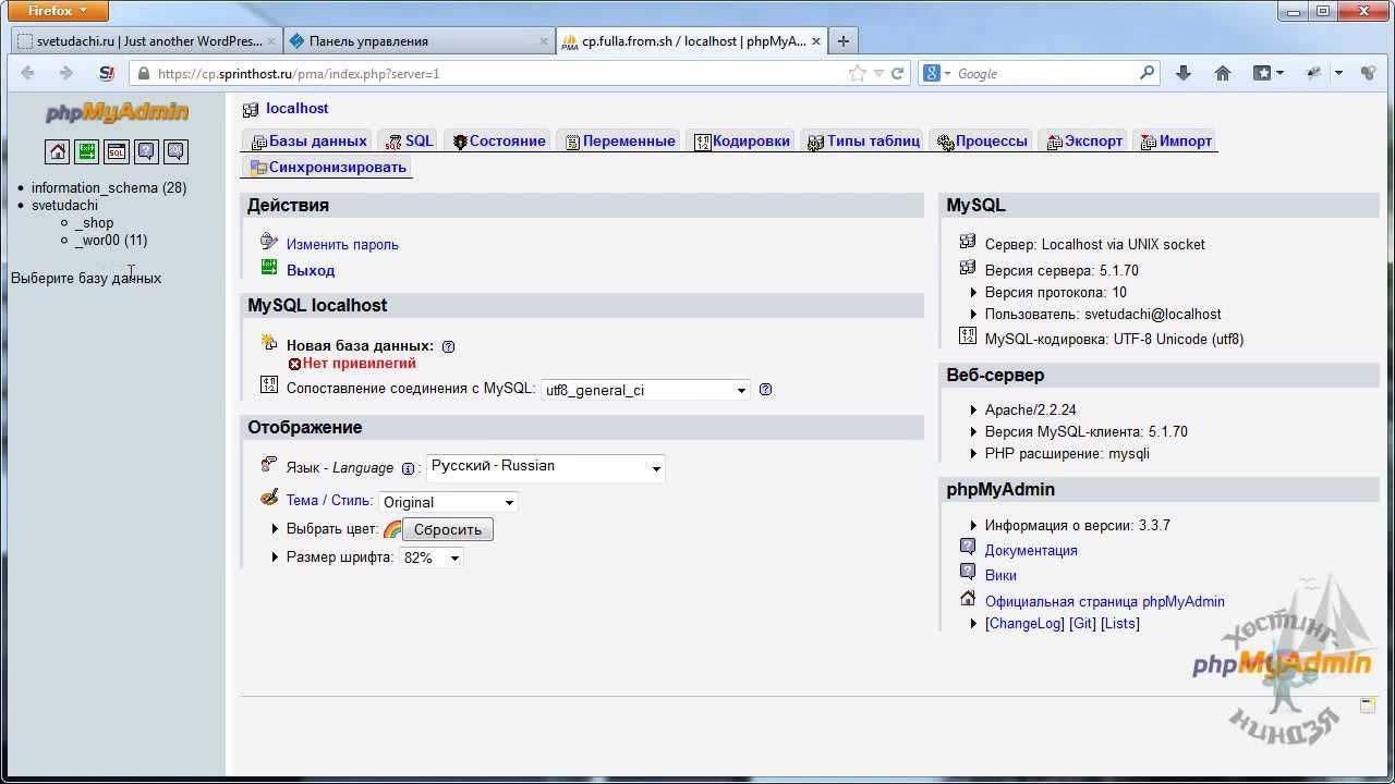 Добавление базы данных на хостинг бесплатный dle хостинг