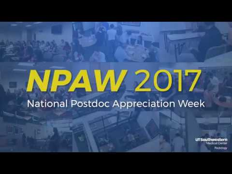 National Postdoc Appreciation Week 2017