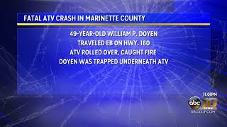 ATV crash in Marinette County leaves one dead