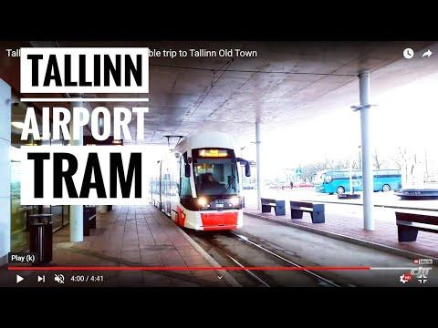 Tallinn Airport tram 🚊 a comfortable trip to Tallinn Old Town