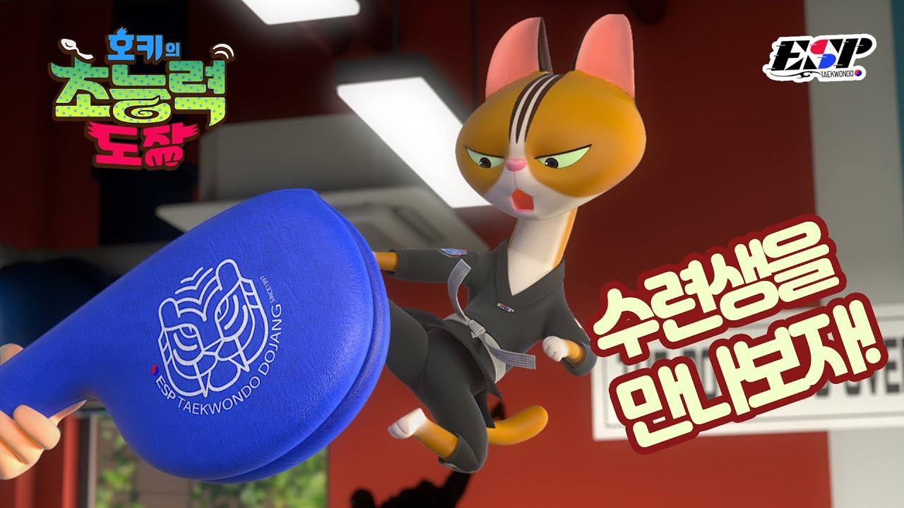 티라노의 격파 연습! 고양이 품새! #태권도#애니메이션
