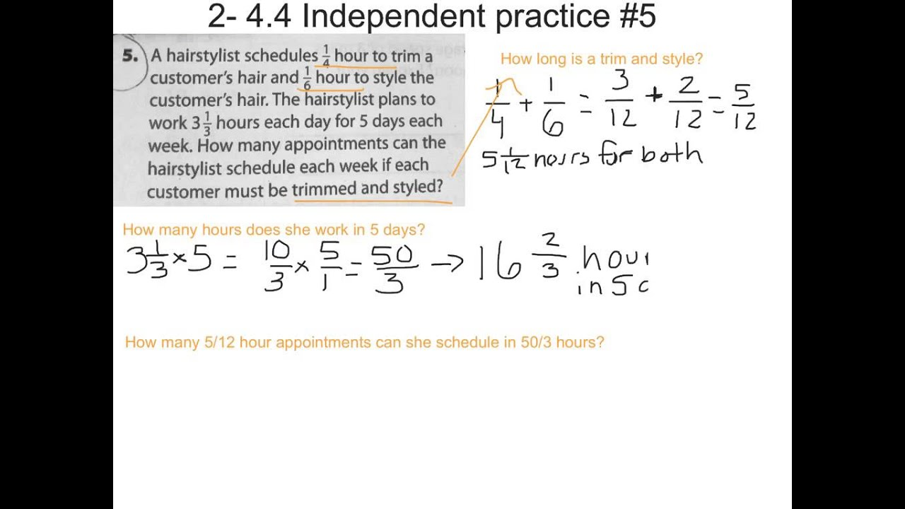 worksheet Multi Step Word Problems 4 5 solving multistep problems with fractions and mixed numbers youtube