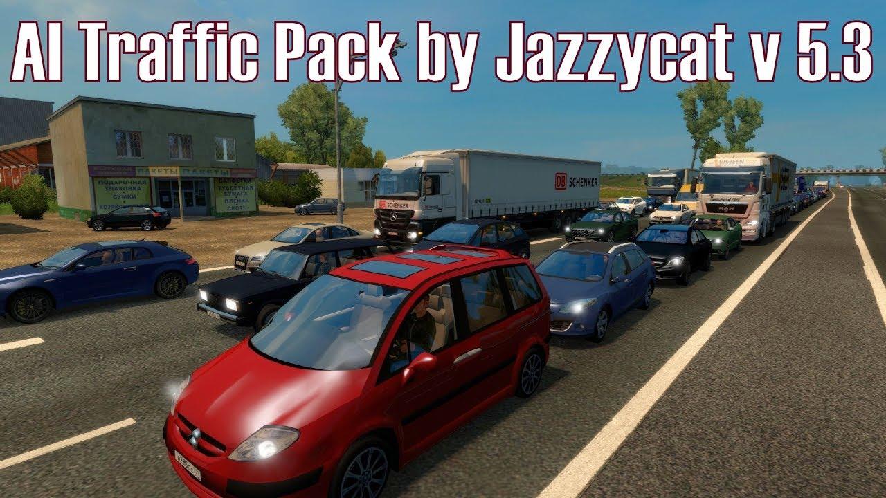 ETS2 v1 27 I Mod ★ AI Traffic Pack by Jazzycat v 5 3 [Deutsch/HD]