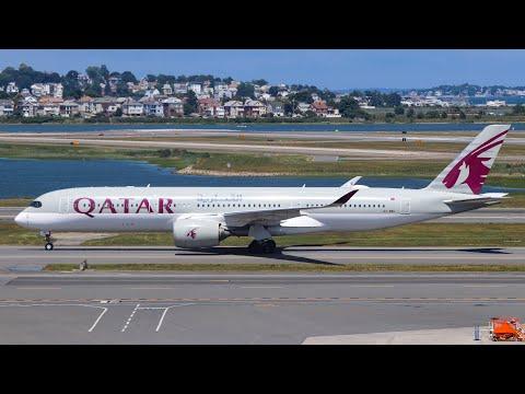 Large Heavies and Internationals Landing at Boston Logan Intl Airport