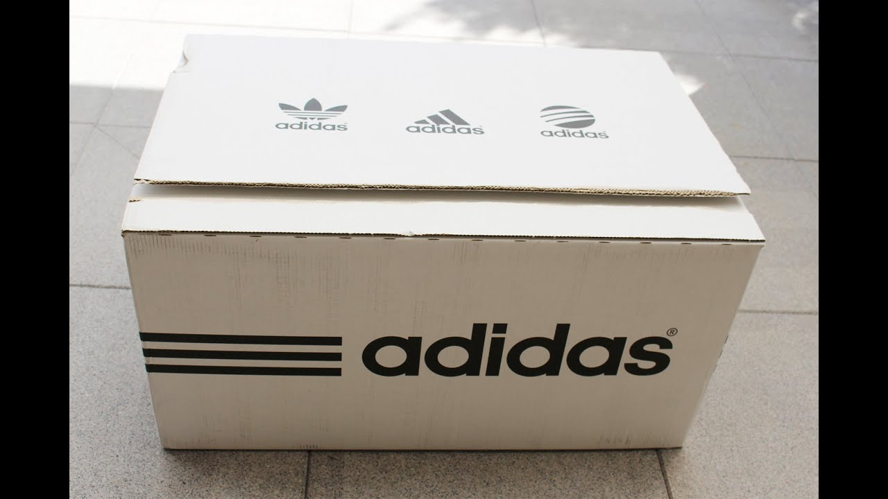 80997adfedba Adidas Huge Surprise Box shoes unboxing - New CC Sonic Gazelle Boost ...