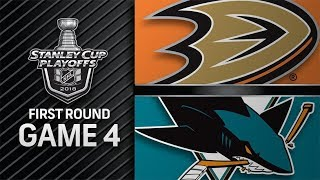 NHL 18 PS4. 2018 STANLEY CUP PLAYOFFS FIRST ROUND GAME 4 WEST: DUCKS VS SHARKS. 04.18.2018. (NBCSN)!