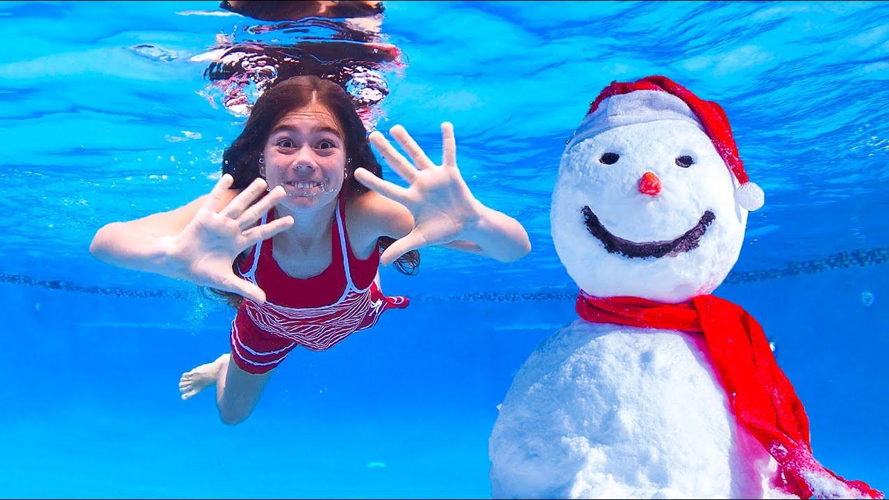 Настя и Артем  -  история про холодный бассейн  | Настя Артем Миа