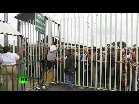 US-bound migrants stranded at Guatemala-Mexico border