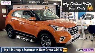 Top 10 Unique Features Of New Creta 2018 | Top Reasons To Buy Creta Compass,Ecosport,Scorpio,Rivals
