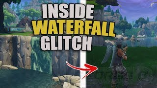 *NEW* How To Get Inside the Waterfall In Fortnite | Under Map Glitch | Underground PS4/XBOX