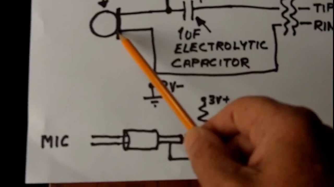 electret condenser microphone wiring youtube rh youtube com pc mic wiring astatic mic wiring [ 1280 x 720 Pixel ]