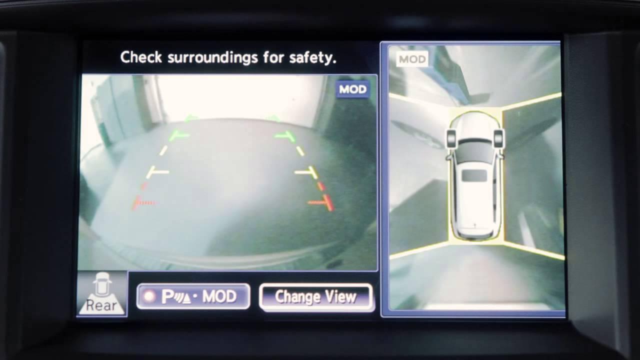 2013 infiniti qx aroundview monitor if so equipped  [ 1280 x 720 Pixel ]