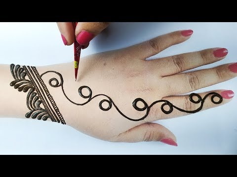 सूंदर अरेबिक मेहँदी लगाना सीखे - New Stylish Arabic Mehndi Design - Easy Mehndi Design for Hands