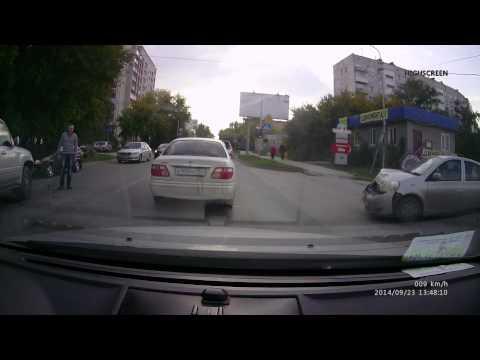ДТП Новосибирск, ул Кропоткина напротив азс газпром 16.48, 23 сентября 2014