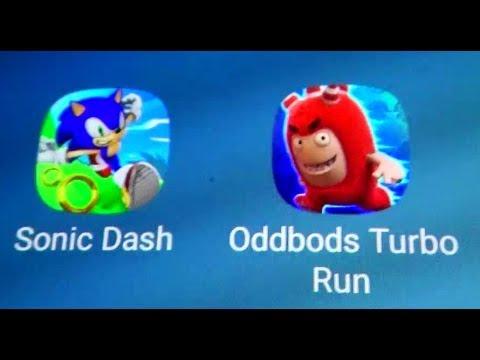 Sonic Dash Vs Odd Bods Turbo Run