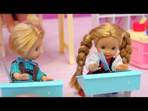 Nobody Wants to Be Bobby's Friend at School ! Toys and Dolls Fun with Barbie School Toy Set
