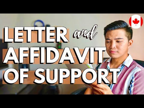 HOW TO MAKE AFFIDAVIT OF SUPPORT FOR INTERNATIONAL STUDENT: Proof Of Funds In Canada Study Permit