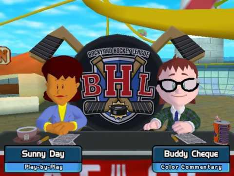 Backyard Hockey 2005 Gameplay