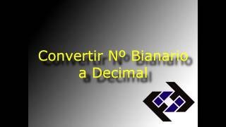 Convertir número binario a su equivalente decimal