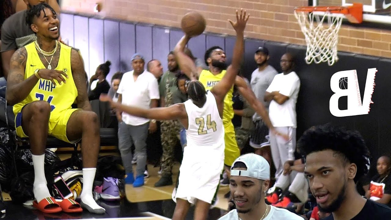 nick-young-subs-in-wearing-chains-flip-flops-nasty-drew-league-dunk-w-tatum-bagley-watching