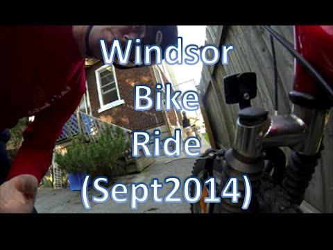 Sunday Morning Bike Ride Through Walkerville And Willistead Manor Windsor Ontario 7 Sept 2014