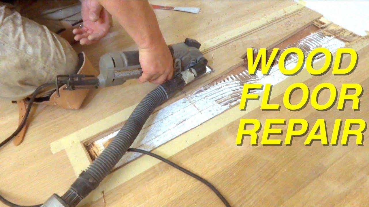 Hardwood Floor Repair How To Replace Boards Mryoucandoityourself