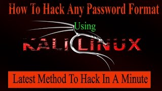 How to Hack Wifi Password (WPA/WPA2PSK) In a Minute Using Kali Linux new 2017 trick