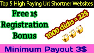 Top 5 Highest Paying Url Shortener Websites 2020 || URL Shortener For India, Pakistan