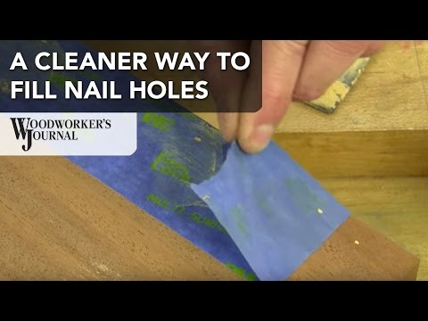 A Cleaner Way to Putty Nail Holes