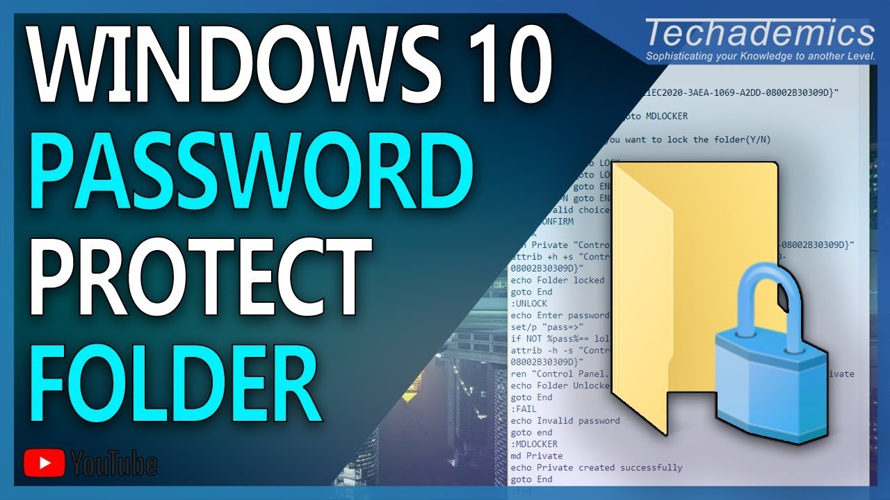 how do you password protect a file folder in windows 10