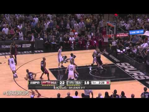 Lebron James Last Game in Heat Uniform, Full Highlights at Spurs 2014 Finals G5 - 31 Pts, 10 Reb