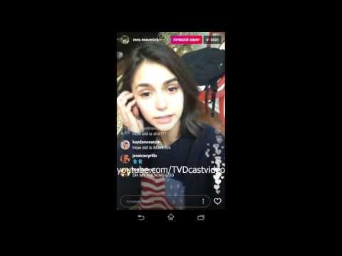 Nina Dobrev's Live Stream - 04.06.2017