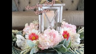 Easter Decor Series: Pretty in Pink Lantern Centerpiece & More