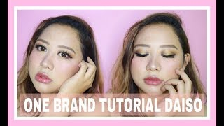 DAISO MAKEUP ONE BRAND TUTORIAL & FIRST IMPRESSION | GiselaV