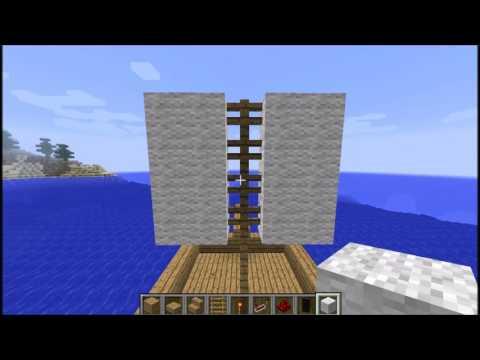 minecraft (vanila) fazendo um barco que solta foguetes (1.8.9)