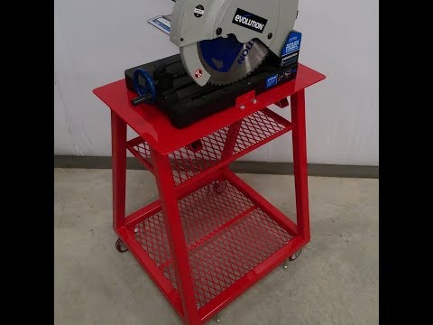 My DIY Ultimate Chop Saw Cart W/ Pivoting Material Support
