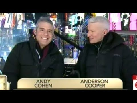 """""""You Sound Like You're On Heroin Or Something...?"""" NYE Co-Host Andy Cohen Tells Anderson Cooper"""