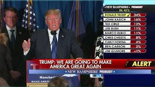 Donald Trump Delivers Victory Speech After Winning New Hampshire Pt. 1