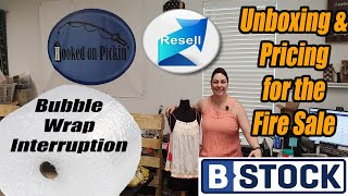 B-Stock Liquidation Unboxing & Listing for the Fire Sale -  Bubble Wrap Interruption! - Reselling